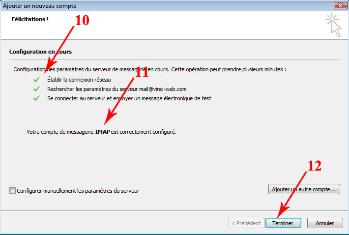Outlook 6 termine