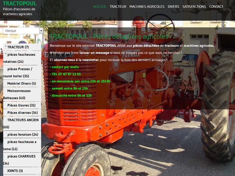 Création site internet pour pièces détachées agricoles
