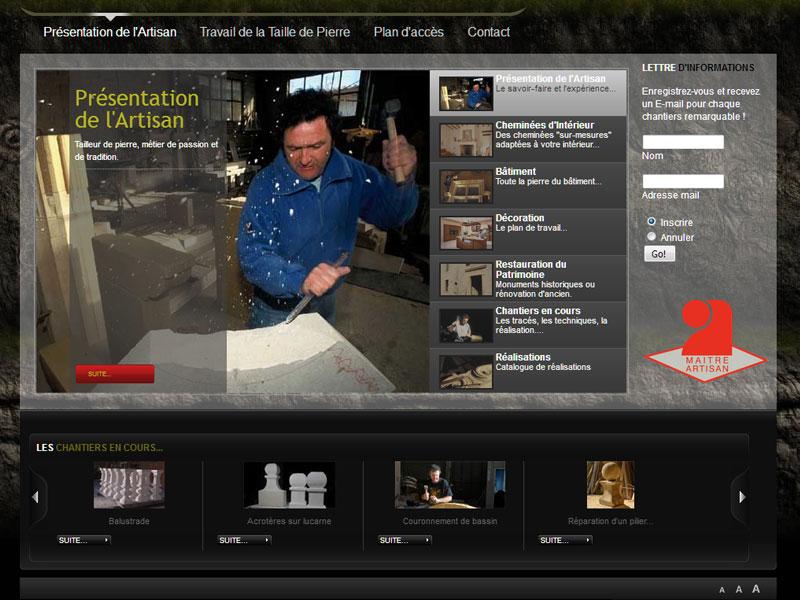Création site internet : Morado - site internet tailleur de pierres