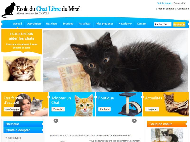 Création site internet pour association d'aides aux chats