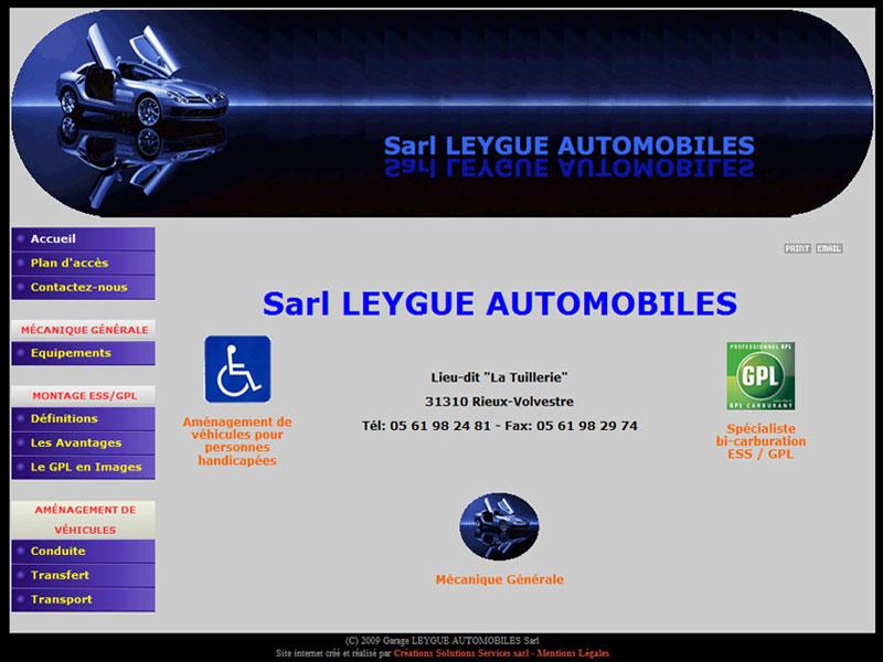 Création site internet : Leygue Automobiles - site internet garage