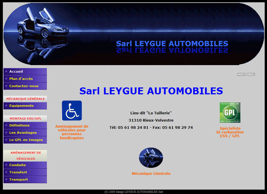 Création site internet : Leygue Automobiles - site internet garage
