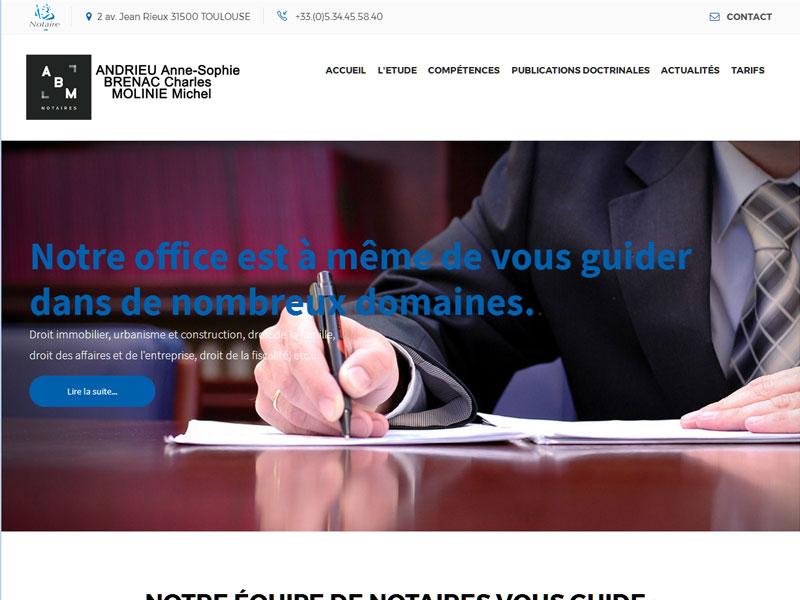 Création site internet pour un cabinet de notaires à Toulouse