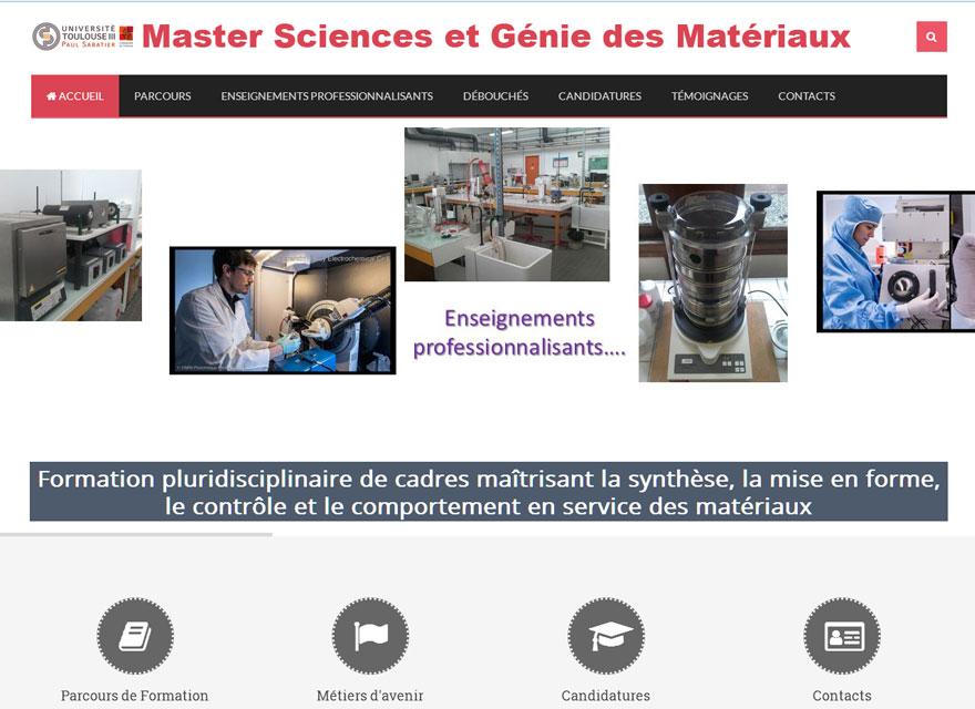 Création site internet pour l'Université Paul Sabatier