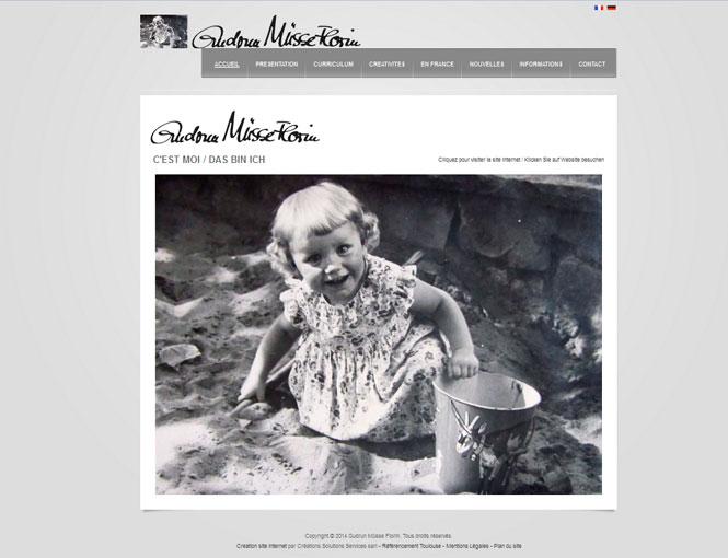 Creation site internet : Solutions de communication pour l'artiste Gudrun Müsse Florin
