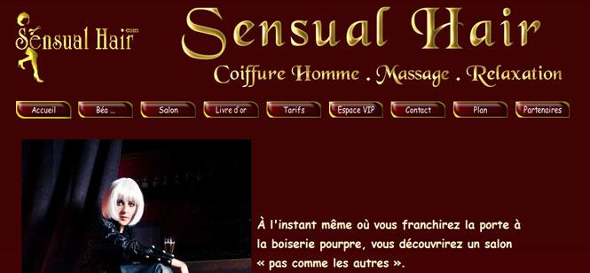 Creation site internet : site internet de coiffure homme à Toulouse
